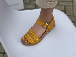 Сандалии желтые (карри) Greece