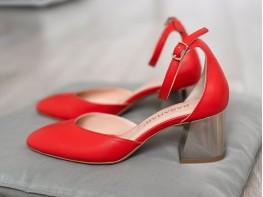 Босоножки кожаные красные Comfort