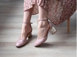 Босоножки кожаные розовые Comfort