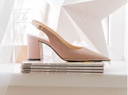 Туфли (босоножки) кожаные розовые на кожаной подкладке