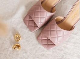 Сабо кожаные розовые на кожаной подкладке